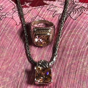 Jewelry - Pink tourmaline ring and pendant